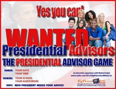 Presidential Advisor Game Flyer
